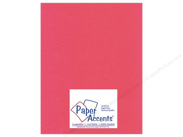 Paper Accents Cardstock 8 1/2 x 11 in. #31106 Mini Dot French Rose (25 sheets)