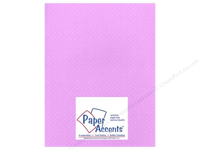 Paper Accents Cardstock 8 1/2 x 11 in. #36605 Mini Dot Lavender (25 sheets)