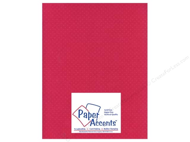 Paper Accents Cardstock 8 1/2 x 11 in. #31107 Mini Dot Rose Heather (25 sheets)
