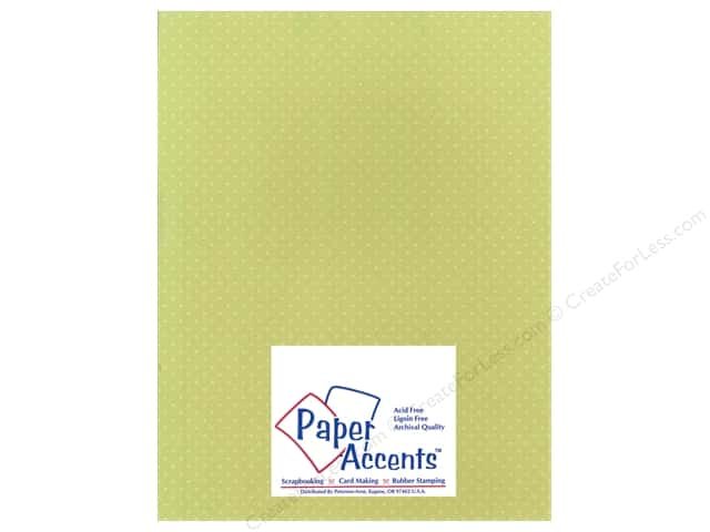Cardstock 8 1/2 x 11 in. Mini Dot Waterside Fern by Paper Accents (25 sheets)