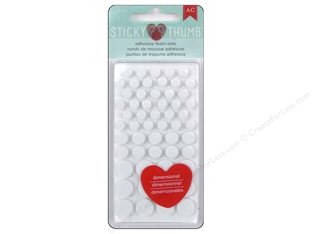American Crafts Sticky Thumb Dimensional Adhesive Foam Dots 275 pc.