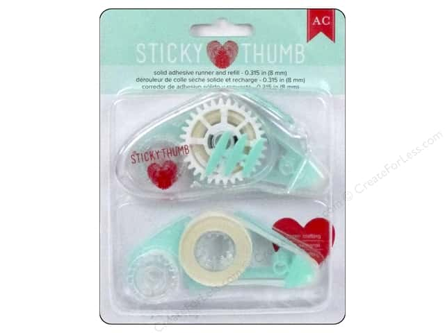 American Crafts Sticky Thumb Adhesive Runner & Refill