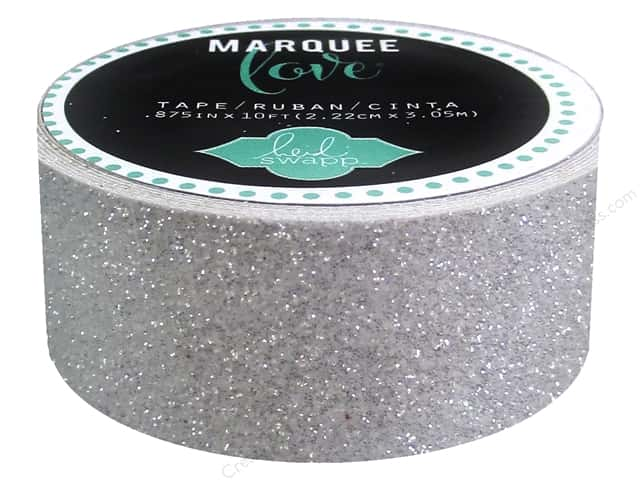 Heidi Swapp Marquee Love Glitter Tape 7/8 in. White