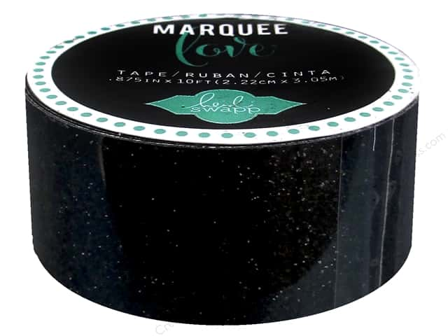 Heidi Swapp Marquee Love Glitter Tape 7/8 in. Black