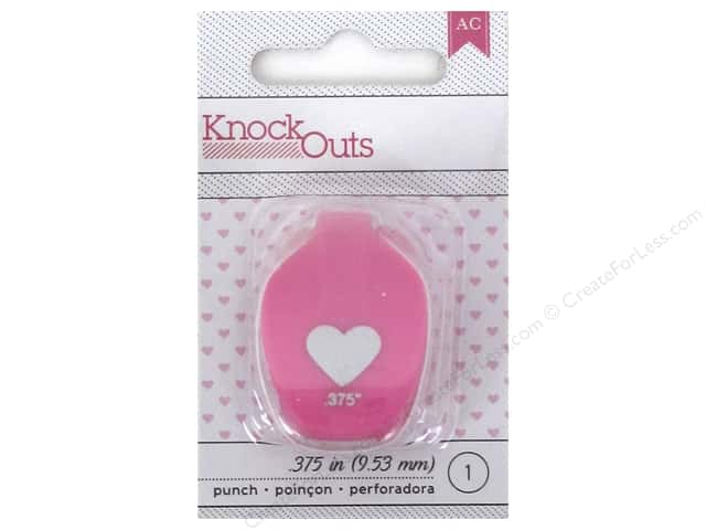 American Crafts Knock Outs Punch 3/8 in. Heart