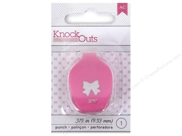 American Crafts Knock Outs Punch 3/8 in. Bow