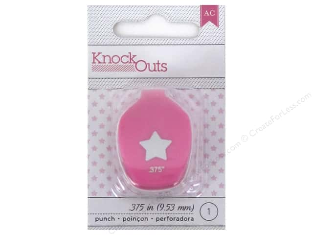American Crafts Knock Outs Punch 3/8 in. Star
