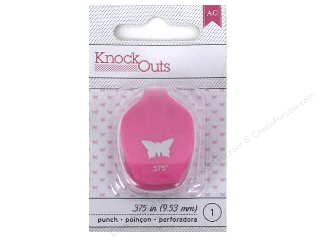 American Crafts Knock Outs Punch 3/8 in. Butterfly