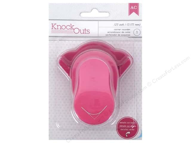 American Crafts Knock Outs Punch 1/8 in. Corner Rounder