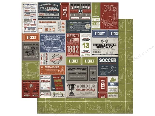Carta Bella 12 x 12 in. Paper Work Hard Play Hard Sport Labels (25 sheets)