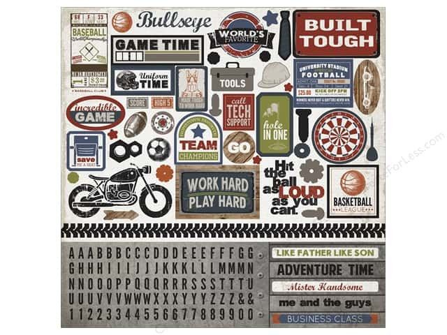 Carta Bella Stickers Work Hard Play Hard Element (15 sheets)
