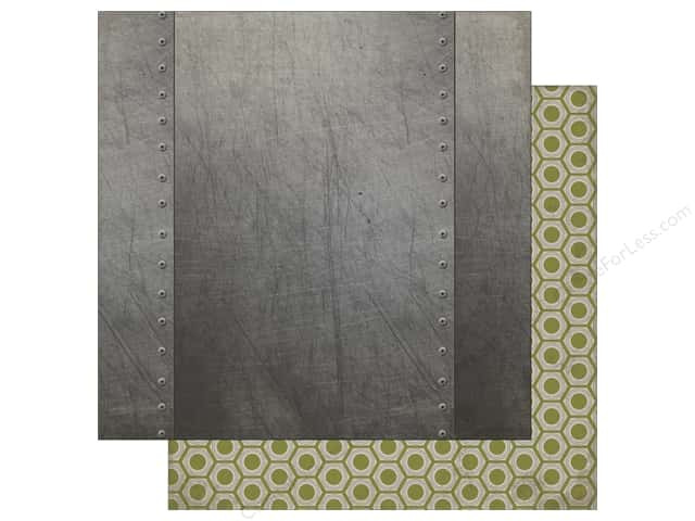 Carta Bella 12 x 12 in. Paper Work Hard Play Hard Metal Sheet (25 sheets)