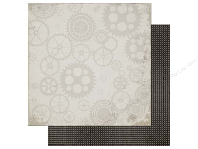 Carta Bella 12 x 12 in. Paper Work Hard Play Hard Working Gears (25 sheets)