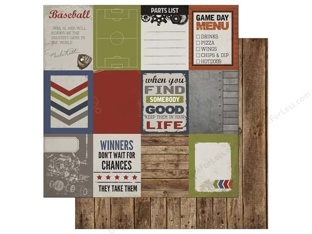 Carta Bella 12 x 12 in. Paper Work Hard Play Hard Journal Card 3x4 (25 sheets)