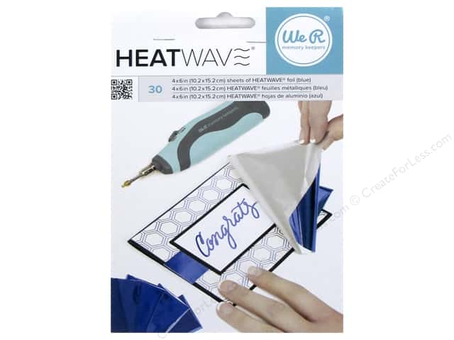 We R Memory Keepers Heatwave Foil Sheets 4 x 6 in. Blue