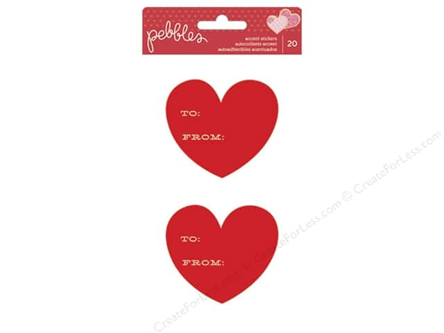 Pebbles Sticker Cardstock Be Mine To/From Heart