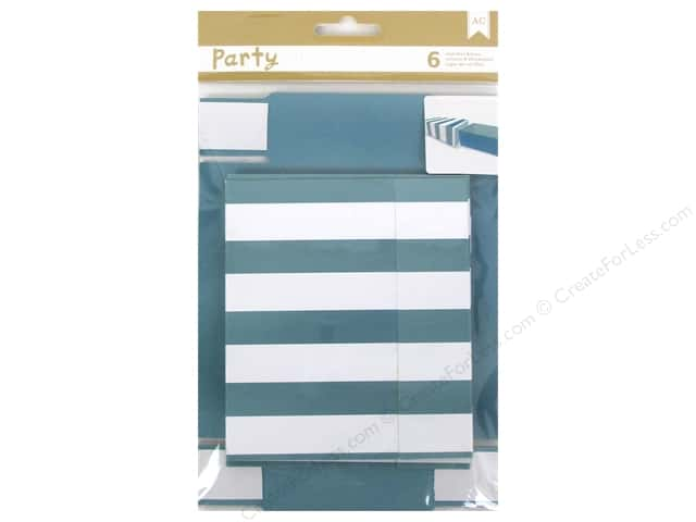 American Crafts DIY Party Treat Boxes 6 pc. Matchbox Blue & White