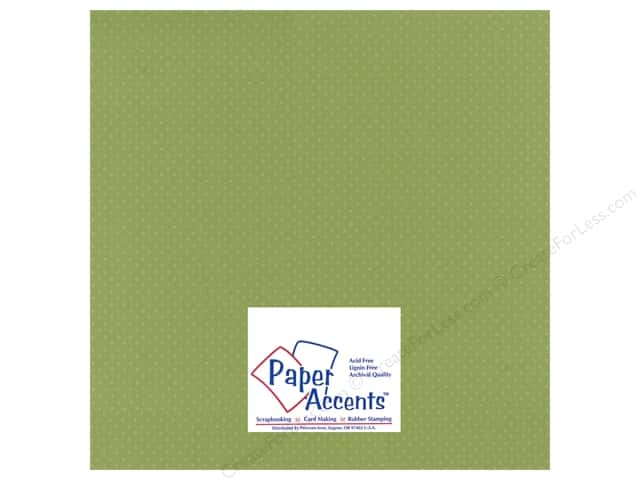 Paper Accents Cardstock 12 x 12 in. #35511 Mini Dot Beach Grass (25 sheets)