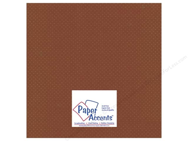 Paper Accents Cardstock 12 x 12 in. #39906 Mini Dot Allspice (25 sheets)