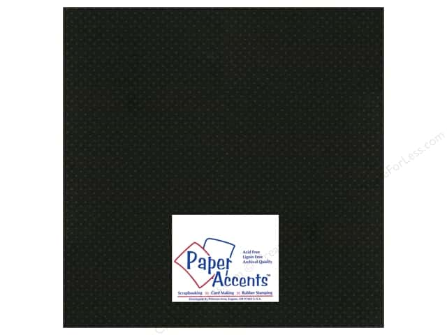 Paper Accents Cardstock 12 x 12 in. #3101012 Mini Dot Black Eyed Susan (25 sheets)