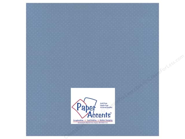 Paper Accents Cardstock 12 x 12 in. #37718 Mini Dot Blue Clematis (25 sheets)