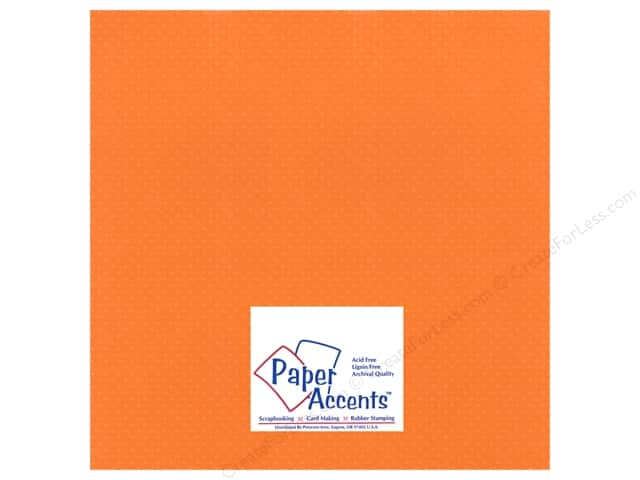 Paper Accents Cardstock 12 x 12 in. #33305 Mini Dot California Poppy (25 sheets)