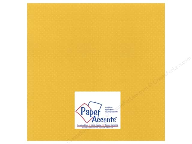 Cardstock 12 x 12 in. Mini Dot Daffodil by Paper Accents (25 sheets)