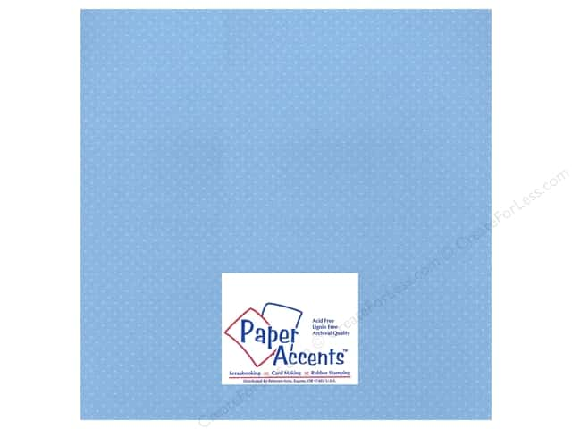 Paper Accents Cardstock 12 x 12 in. #37716 Mini Dot Bluebells (25 sheets)
