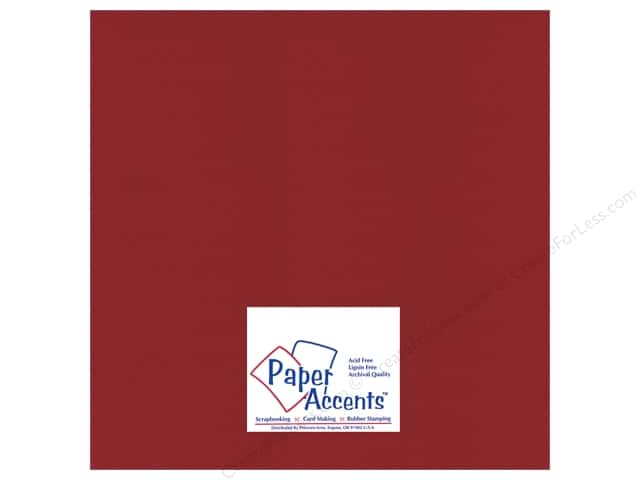 Paper Accents Cardstock 12 x 12 in. #32207 Mini Dot Crimson Beauty (25 sheets)