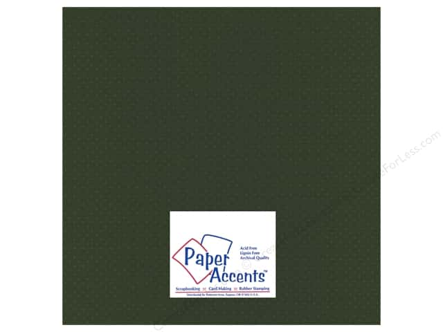 Paper Accents Cardstock 12 x 12 in. #35513 Mini Dot Boxwood (25 sheets)