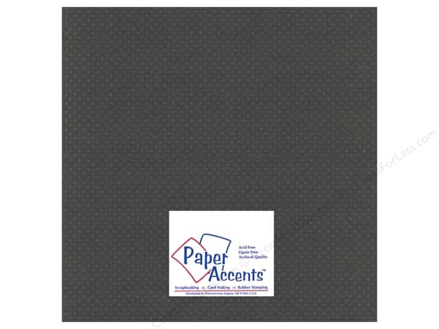 Paper Accents Cardstock 12 x 12 in. #3101010 Mini Dot Dusty Miller (25 sheets)