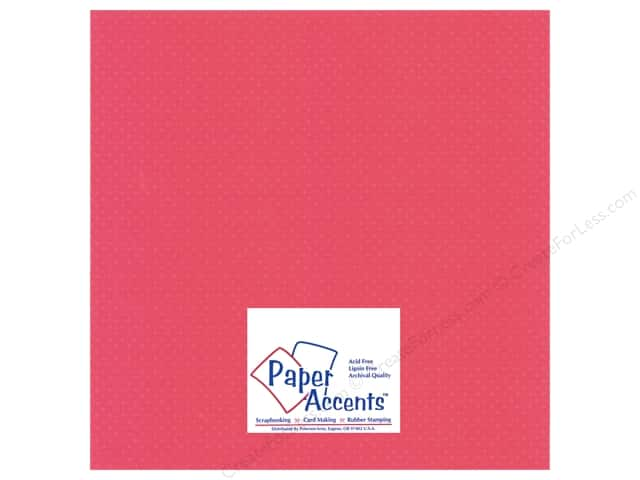 Paper Accents Cardstock 12 x 12 in. #31106 Mini Dot French Rose (25 sheets)