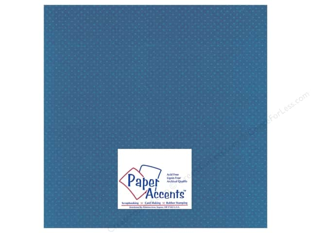 Paper Accents Cardstock 12 x 12 in. #37717 Mini Dot Delphinium (25 sheets)