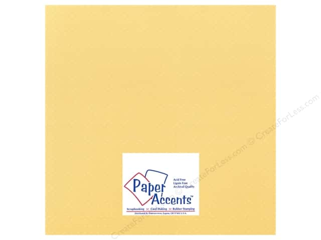 Cardstock 12 x 12 in. Mini Dot Jonquil by Paper Accents (25 sheets)