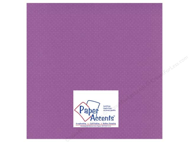 Cardstock 12 x 12 in. Mini Dot Grape Verbena by Paper Accents (25 sheets)