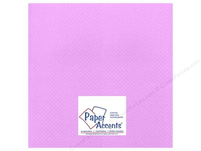 Paper Accents Cardstock 12 x 12 in. #36605 Mini Dot Lavender (25 sheets)
