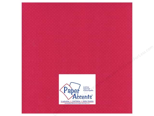 Paper Accents Cardstock 12 x 12 in. #31107 Mini Dot Rose Heather (25 sheets)