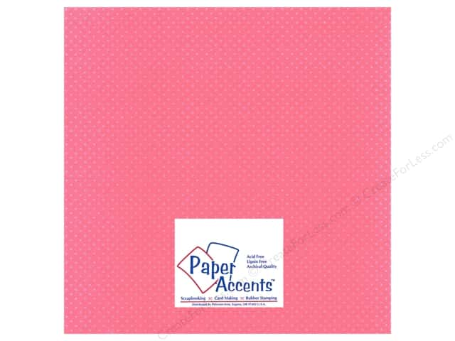 Paper Accents Cardstock 12 x 12 in. #31105 Mini Dot Pink Carnation (25 sheets)