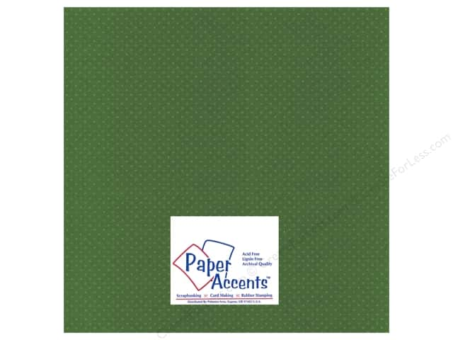 Paper Accents Cardstock 12 x 12 in. #35512 Mini Dot Queens Fern (25 sheets)