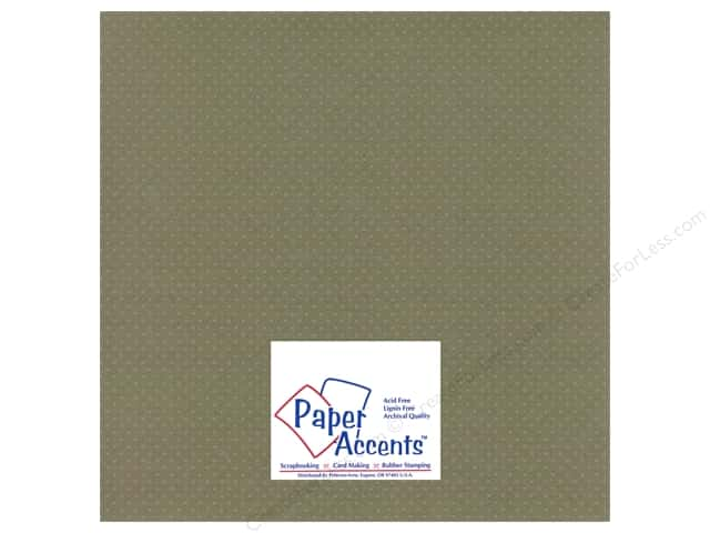Paper Accents Cardstock 12 x 12 in. #3101009 Mini Dot Silver Lupine (25 sheets)