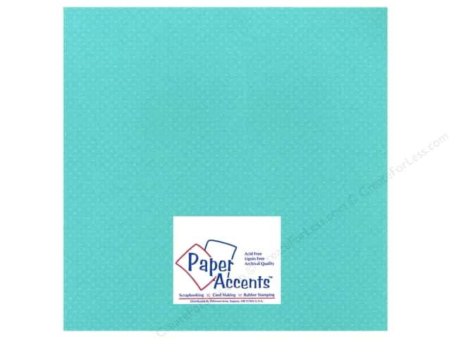 Paper Accents Cardstock 12 x 12 in. #35507 Mini Dot Sea Holly (25 sheets)