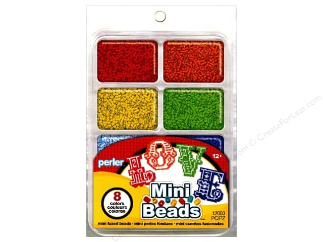 Perler Mini Bead 8000 pc. Rainbow Assorted Colors Tray