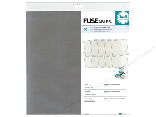 "We R Memory Fuse Clear Sheets 12""x 12"" 10pc"