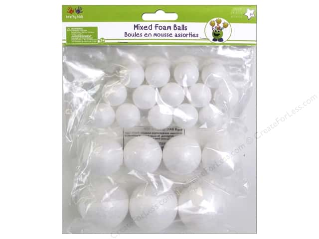 Multicraft Krafty Kids Polyfoam Ball Assorted