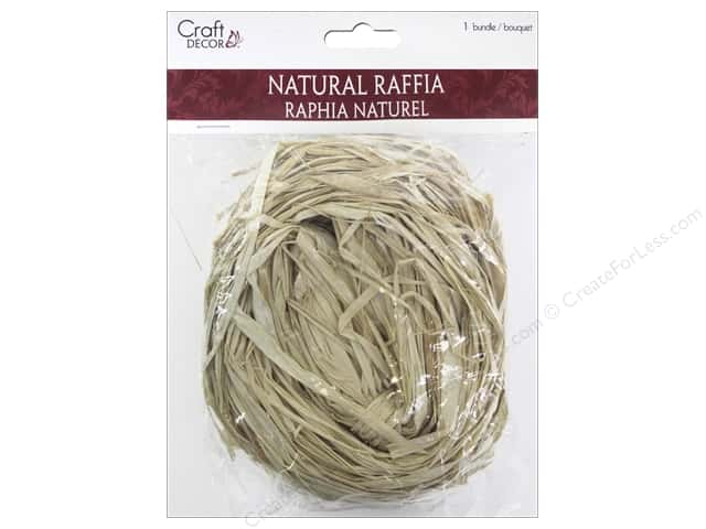 Mulitcraft Embellishments Raffia 2oz Natural