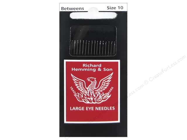 Hemming Needle Quilting/Betweens Size 10 20pc