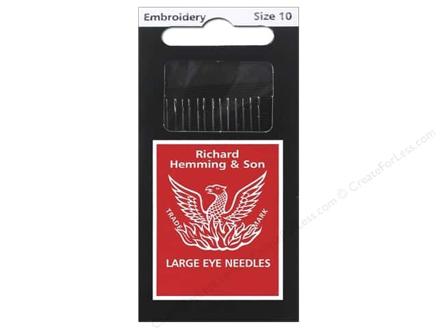 Hemming Needle Crewel/Embroidery Size 10 15pc