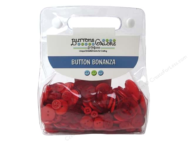 Buttons Galore Button Bonanza 1/2 lb. Fire Engine Red