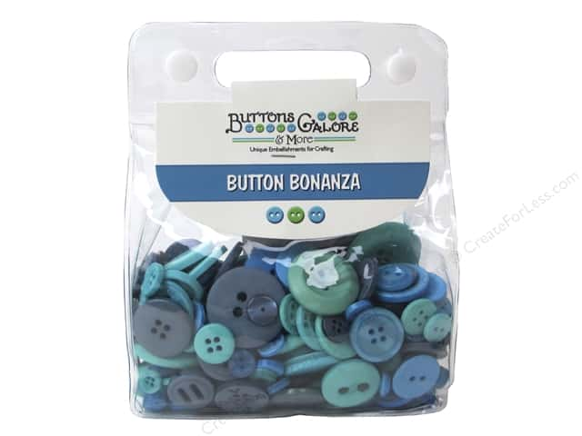 Buttons Galore Button Bonanza 1/2 lb. Ocean Blue