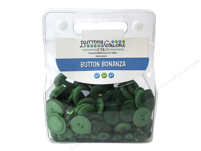 Buttons Galore Button Bonanza 1/2 lb. Green